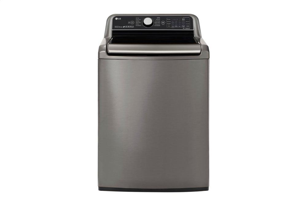 5.5 cu.ft. Smart wi-fi Enabled Top Load Washer with TurboWash3D Technology GRAPHITE STEEL