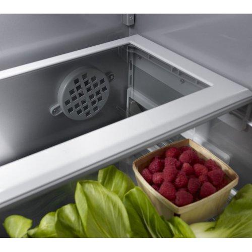 "20.8 Cu. Ft. 36"" Width Built In Stainless Steel French Door Refrigerator with Platinum Interior Design"