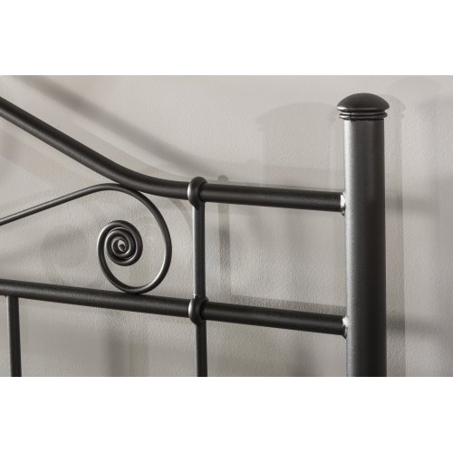 Harrison King Headboard With Rails - Textured Black