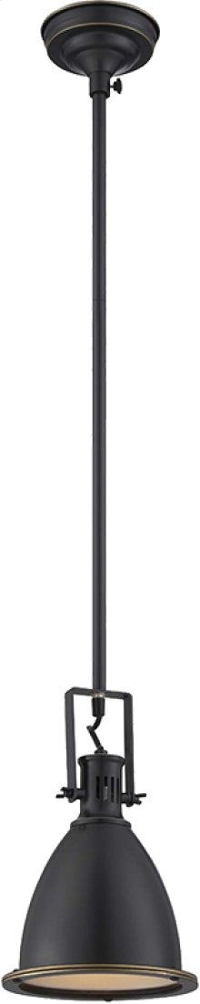"Ceiling Lamp W.48"" Pole, Dark Bronze, Type A 60w"