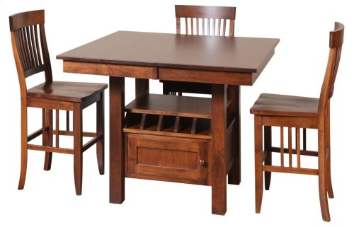 """48/56-2-12"""" Rectangular Gathering Cafe Table with Drawer"""