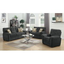 Fairbairn Casual Charcoal Two-piece Living Room Set