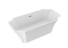 Waldorf Freestanding Tub Polished Nickel Drain