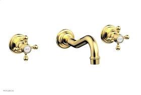 HENRI Wall Tub Set - Cross Handle 161-56 - Polished Gold