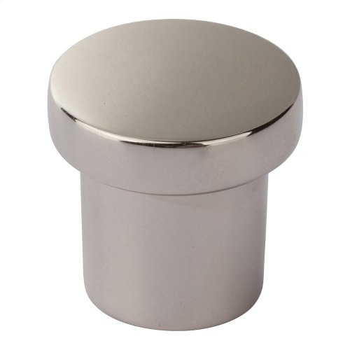 Chunky Round Knob Small 1 Inch - Polished Nickel
