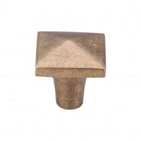 Aspen Square Knob 1 1/4 Inch - Light Bronze