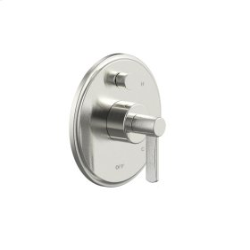 Tub and Shower Trim Plate with Handle Wallace (series 15) Satin Nickel