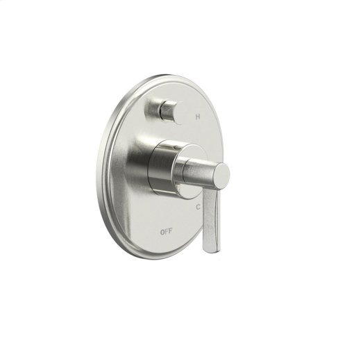 Tub and Shower Trim Plate With Handle Darby Series 15 Satin Nickel
