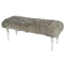 Mongolian Acrylic Bench,Gray