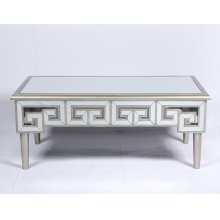 Emerald Home T425-00 Heritage Sofa Table, Mirror