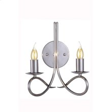 """1452 Lyndon Collection Wall Lamp W:10"""" H:12"""" E:8"""" Lt:2 Polished Nickel Finish"""
