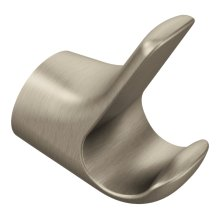 Method brushed nickel double robe hook