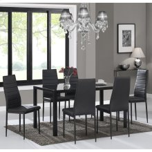 Contra 7pc Dining Set in Black
