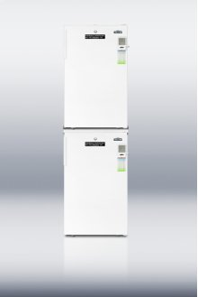 "Combination stacked FF511LMED refrigerator and FS407LMED freezer with 20"" footprint"