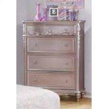 Caroline Metallic Lilac Four-drawer Chest
