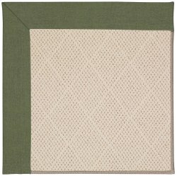 Creative Concepts-White Wicker Canvas Fern Machine Tufted Rugs