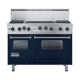 "Viking Blue 48"" Sealed Burner Self-Cleaning Range - VGSC (48"" wide, four burners & 24"" wide char-grill)"