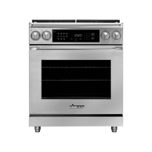 "Dacor30"" Heritage Dual Fuel Epicure Range, Silver Stainless Steel, Liquid Propane/High Altitude"