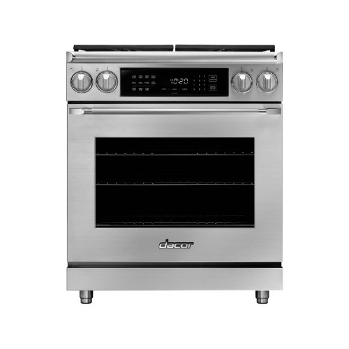 "30"" Heritage Dual Fuel Epicure Range, Silver Stainless Steel, Natural Gas/High Alttitude"