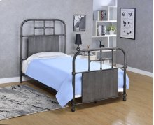 Cheriton Bed - Twin, Antique Black Finish
