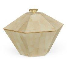 Dutch White Eggshell Hexagonal Box