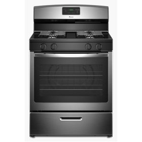 30-inch Gas Range with Easy Touch Electronic Controls - stainless steel
