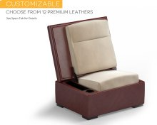 JumpSeat Ottoman, Premium Leather