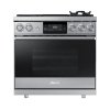 "Dacor 36"" Pro Dual-Fuel Steam Range, Silver Stainless Steel, Liquid Propane"