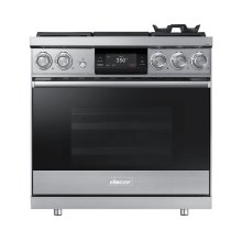 """36"""" Pro Dual-Fuel Steam Range, Silver Stainless Steel, Natural Gas"""