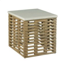 RATTAN RECT END TABLE