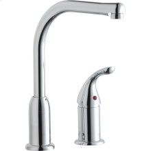 Elkay Everyday Kitchen Faucet with Remote Lever Handle Restricted Spout Chrome