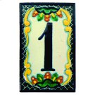 House Address Number 1 in Zinnia Product Image