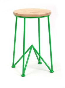 Green Table with Wood Top
