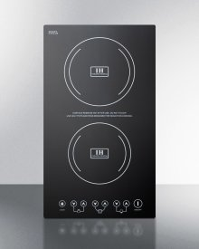 Built-in Induction Cooktop With Two Zones, 3100 Watts, 220 Volts, and Black Ceran Smooth-top Finish