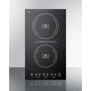 SummitBuilt-in Induction Cooktop With Two Zones, 3100 Watts, 220 Volts, and Black Ceran Smooth-top Finish