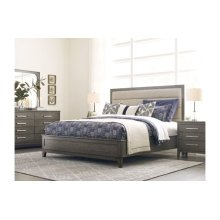 Ross King Upholstered Panel Bed - Complete