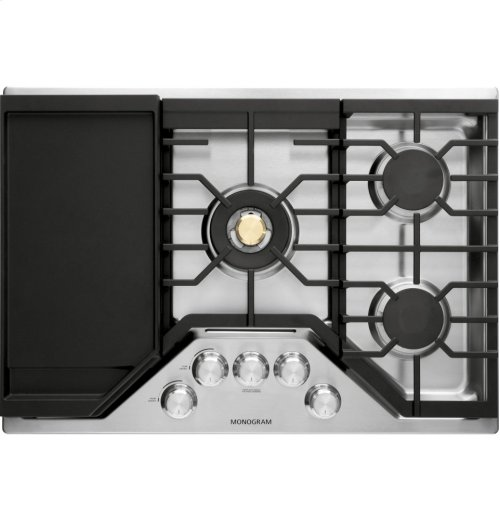 "Monogram 30"" Deep-Recessed Gas Cooktop (Natural Gas)"