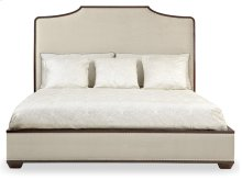 Queen-Sized Haven Upholstered Bed in Haven Brunette (346)