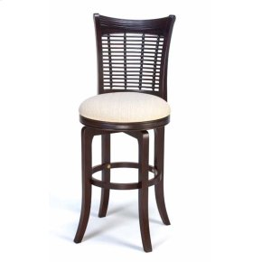 Bayberry Swivel Counter Stool - Dark Cherry
