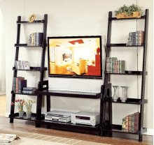Black Ladder Component Stand - 5 Shelves