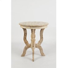 Global Archive Round Accent Table or End Table