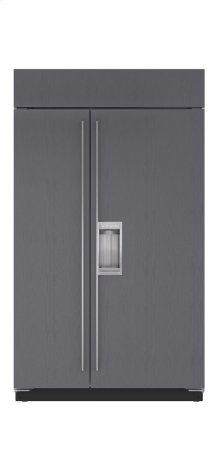 """48"""" Built-In Side-by-Side Refrigerator/Freezer with Dispenser - Panel Ready"""