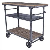 Armen Living Reign Industrial Cart Product Image