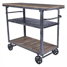 Armen Living Reign Industrial Cart