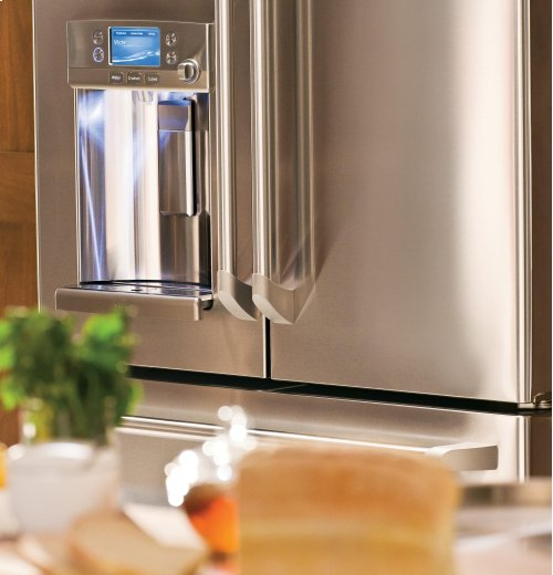 GE Cafe™ Series ENERGY STAR® 22.2 Cu. Ft. Counter-Depth French-Door Refrigerator with Hot Water Dispenser