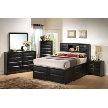 Briana Transitional Black Queen Four-piece Bedroom Set