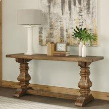 Hawthorne - Console Table - Barnwood Finish-Floor Sample