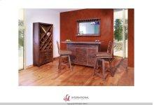 Bar top & base 3 drawers,1 door 3 removable wine holders rack