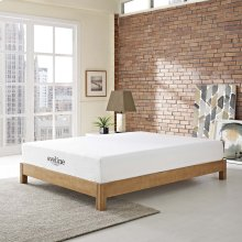 "Aveline 10"" California King Gel Memory Foam Mattress in White"