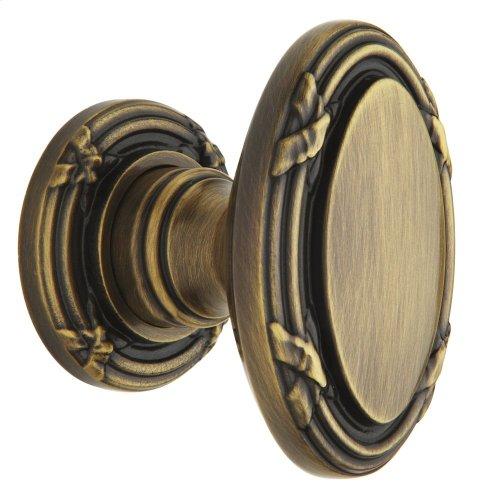 Satin Brass and Black 5031 Estate Knob